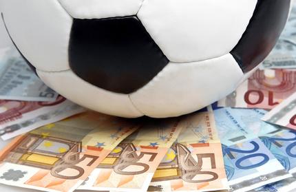 Ballon de foot et billets